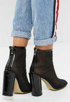 Public Desire - Under patent heel mesh ankle boot