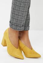 Public Desire - Spy pointy block heel