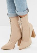 Public Desire - Sceptic zip front ankle boot