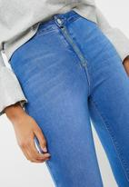 Missguided - Vice high waisted zip fly skinny jeans