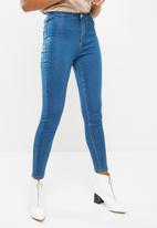 Missguided - Vice high waisted stone wash jeans