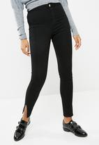 Missguided - Vice high waisted side split skinny jeans
