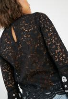 New Look - Mono embroidered lace top
