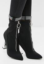 Public Desire - Sceptic zip front ankle boot