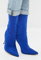 Public Desire - Staple patent stiletto heel boot