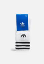 adidas Originals - Solid Crew 3 Pack - White/Black
