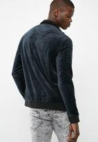 Only & Sons - Theo velour zip through jacket