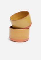 Urchin Art - Saffron dip bowl set