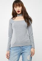 dailyfriday - Square neck choker top