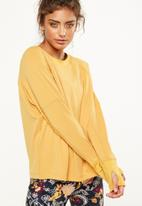 Cotton On - Waffle crew neck long sleeve top