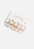 dailyfriday - 9pk crystal assorted hoop set