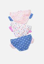 Cotton On - Kids girls ruffle underwear pack
