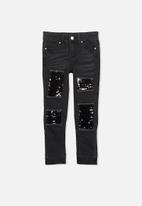 Cotton On - Kids mia sequin patch jeans