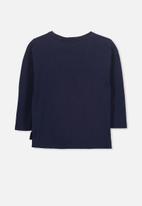 Cotton On - Kids Anna long sleeve drop shoulder split hem