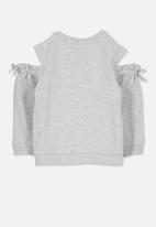 Cotton On - Kids Alexandra cold shoulder fleece