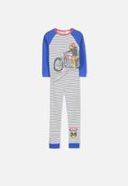 Cotton On - Kids boys long sleeve waffle pj set