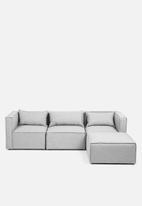 Sixth Floor - Modular ottoman - grey