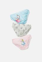 Cotton On - Kids girls 3pk licence underwear