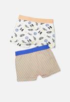 Cotton On - Kids boys 2pk licence trunks
