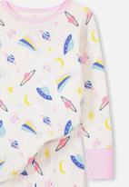 Cotton On - Kids boys long sleeve waffle pj set