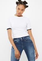 G-Star RAW - Silber ringer cropped tee