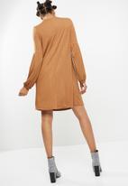 dailyfriday - Longsleeve rib swing dress