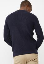 basicthread - Raglan textured knit