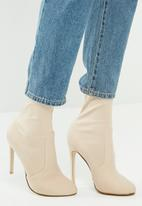 Missguided - Round toe stiletto heel boot