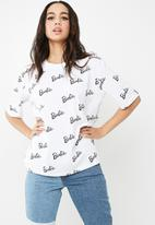 Missguided - Barbie x Missguided logo print t-shirt
