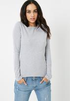 Missguided - Crew neck ribbed top