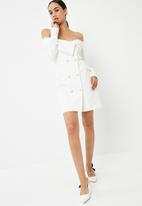 Missguided - Bardot double breasted blazer mini dress