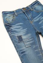 basicthread - Kids skinny patch denim