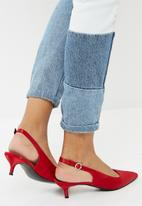 dailyfriday - Satin kitten heel - red