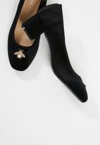 dailyfriday - Velvet block heel - black