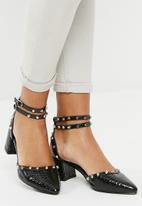 dailyfriday - Studded block heel - black