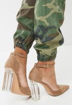 dailyfriday - Perspex block heel - nude