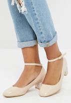 dailyfriday - Glitter block heel - nude