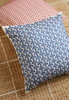 Sixth Floor - Gaia embroidered cushion cover - blue