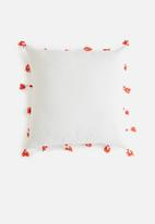 Sixth Floor - Burst cushion cover - grey & red