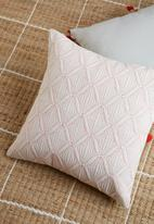 Sixth Floor - Ritz quilted cushion cover - orange & white