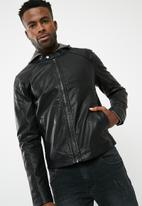 Jack & Jones - Originals PU biker jacket