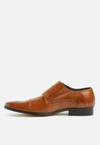 basicthread - Bradley leather double monk strap