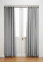 Sixth Floor - Eyelet curtain 2 pack - grey