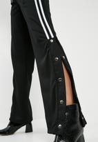 Missguided - Popper side wide leg side stripe jogger