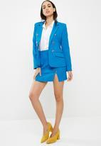 Missguided - Silver button blazer - blue