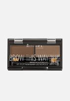 Rimmel - Brow This Way Brow Powder Kit - Mid Brown
