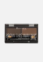 Rimmel - Brow This Way Brow Powder Kit - Dark Brown