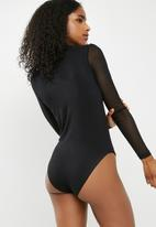 dailyfriday - Mesh sleeve bodysuit