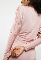 dailyfriday - Slinky midi boat neck dress - pink