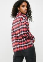 dailyfriday - Embellished shirt - red check
